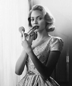 I enjoy this picture of Beyonce because I feel as if it shows how timeless she is. Even in black and white she's stunning