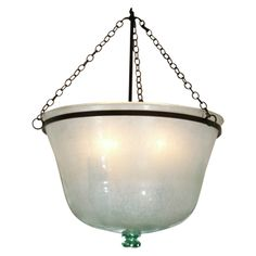 Period French Melon Cloche Light | From a unique collection of antique and modern chandeliers and pendants  at http://www.1stdibs.com/furniture/lighting/chandeliers-pendant-lights/