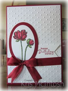 Cherry Cobbler Blendibilities, Bloom with Hope, Petite Pairs, Cherry Cobbler ink, Whisper White and Daughter Birthday Cards, Birthday Cards For Women, Happy Birthday Cards, Female Birthday Cards, Birthday Cards Handmade Female, Happy Retirement Cards, Homemade Birthday Cards, Homemade Cards, Diy Birthday