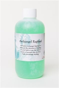 Call upon Archangel Raphael to help set the intention of your healing bath. You can draw the bath, pour in the bottle, and soak your aches away. You can also dampen a soft cloth and wipe down the areas of any room of somebody who is ill.