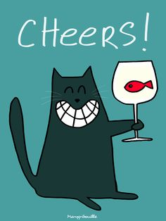 Cats run the world ! Happy Birthday Quotes, Birthday Greetings, Cat Birthday, Birthday Cards, Gato Animal, Cat Run, Black Cat Art, Cat Cards, Happy B Day