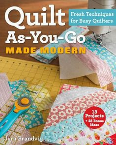 Quilt-As-You-Go Made Modern – Strip Quilt with Lace tutorial!