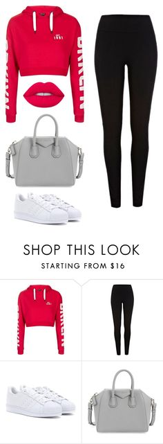 """Untitled #205"" by itsamandarose on Polyvore featuring Topshop, River Island, adidas, Givenchy and Lime Crime"