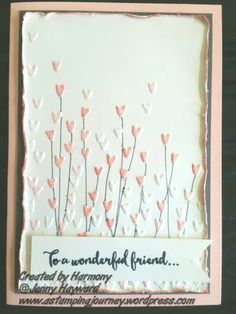 A different way of using the Falling Petals Embossing Folder. #stampinupaustralia