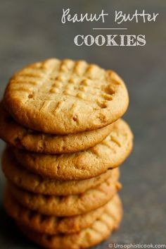 Homemade Peanut Butter Cookies -- these homemade peanut butter cookies are light textured with a bit of crunch, thanks to my special ingredients! | via @unsophisticook on unsophisticook.com