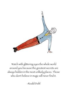 Roald Dahl's lovely short story The Wonderful Story of Henry Sugar introduced my little girl self to the idea of 'yoga'. It was such an exotic, unfamiliar way of being. Many years… Shel Silverstein, Typewriter Series, Quotes To Live By, Me Quotes, Roald Dahl Quotes, Believe In Magic, Wedding Humor, Poetry Quotes, Insta Posts