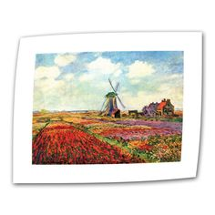 Windmill by Claude Monet Painting Print on Canvas