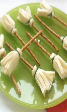 Cheese Witch's Brooms. Cute appetizer!