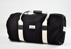 Beckel Canvas Products Round-A-Bout Duffle Bag Black // Made in the USA
