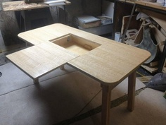 Father & Son Team Build Awesome Cable Free Desk - I want my hubby to build me one.