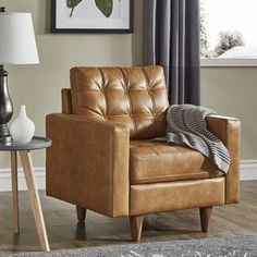 Shop for Odin Caramel Leather Gel Accent Chair by iNSPIRE Q Modern. Get free shipping at Overstock - Your Online Furniture Outlet Store! Get 5% in rewards with Club O! - 25633749