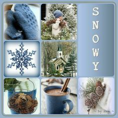 Winter Blues ~ by mea ~ Christmas Collage, Christmas Mood, Blue Christmas, Christmas Colors, Snow Scenes, Winter Scenes, Iphone Wallpaper 4th Of July, I Need A Hobby, Color Collage