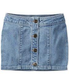 Carter's Toddler Girls' Button-Front Denim Skirt