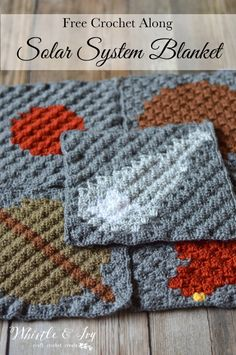 Solar System C2C CAL: Join in this FREE and fun crochet along, and make this fun (and little bit geeky) solar system afghan.