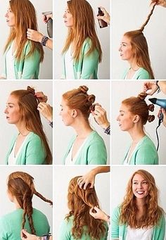 Hacks: 3 Foolproof Ways to Make Waves wavy hair tutorial Harmon Dunlop ❤ have you tried this one yet?wavy hair tutorial Harmon Dunlop ❤ have you tried this one yet? My Hairstyle, Pretty Hairstyles, Easy Hairstyles, Straight Hairstyles, Overnight Hairstyles, Casual Hairstyles, Heat Free Hairstyles, Heatless Hairstyles, Wavy Hairstyles Tutorial