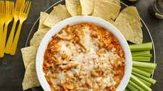 Enjoy all the big, bold flavors of buffalo chicken pizza in dip form!