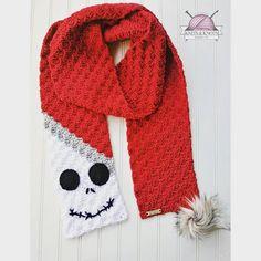 Jack SKellington Christmas Scarf/ Jack SKellington holiday scarf/ crochet Jack inspired scarf/ crochet Jack scarf / made to order/ Source by C2c Crochet, Crochet Beanie, Crochet Gifts, Christmas Crochet Patterns, Holiday Crochet, Crochet Scarves, Crochet Clothes, Crochet Sweaters, Crochet Dresses