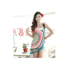 Jersey Top with circle Crochet Patterns - Crochet Patterns
