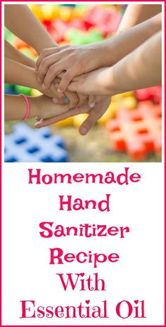 DIY all natural hand sanitizer recipe with essential oils.