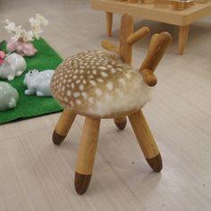 ¡Esta silla es puro #cutehunting! Bambi Chairs by Takeshi Sawada