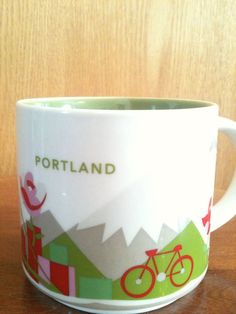 2013 Starbucks Coffee Portland Mug You Are Here Collection Cup YAH Rose Oregon #Starbucks