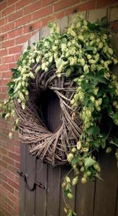 Hottest Pics thick Grapevine Wreath Popular Have you've made a fall wreath still? Are you aware that you can use the identical procedure to bu Deco Floral, Arte Floral, Wreaths And Garlands, Door Wreaths, Diy Wreath, Grapevine Wreath, Corona Floral, Christmas Wreaths, Christmas Decorations