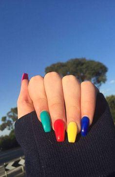 20 Cute Summer Nail Designs for 2020 : Summer Nail Colours #Cute #Summer #Nail Cute Summer Nail Designs, Cute Summer Nails, Nail Summer, Summer Design, Acrylic Nail Powder, Acrylic Nail Art, Manicures, Gel Nails, Pink Nails