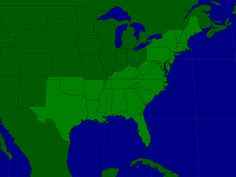 The U S States In The South And The Northeast Map Quiz Game