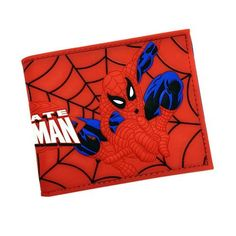 Spiderman Wallet, Bifold, and Card Holder For Boys