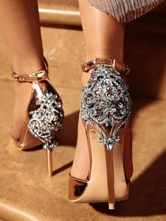 Satin Ornate Metal and Crystal Embellished Stiletto Heel LALA IKAI Women Crystal Glitter Sandals Pump 2018 High Heels Sandals Lady Chic Cover Heel Party Sexy Shoes Fancy Shoes, Pretty Shoes, Beautiful Shoes, Me Too Shoes, Gorgeous Heels, Buy Shoes, Crazy Shoes, Bridal Shoes, Wedding Shoes