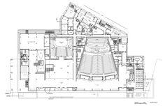 ADDA Planos Planta Baja Alicante, Architectural Plants, Architectural Drawings, Auditorium Design, Theatre Design, Church Building, Concert Hall, Deconstruction, Building Design