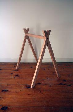 trestle legs - by Nikolai Sorensen Deco Furniture, Furniture Design, Trestle Legs, Best Hiking Boots, Table Legs, Table Bases, Sewing Studio, Tripod Lamp, Boots For Sale