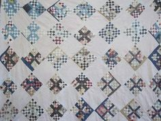 lot vintage patchwork quilt tops w/ old print fabric blocks, antique quilts