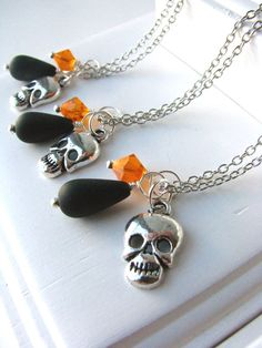 Gothic Skull Halloween Wedding Jewelry for by happylifejewelry, $18.00