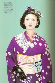 Kimono-hime issue 9. Fashion shoot page 5 | This one is stun… | Flickr - Photo Sharing!