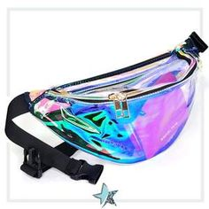 Holographic Fanny Pack Clear Fanny Pack for Women Waist Bags Leather Fanny Pack Leather Fanny Pack, Leather Bag, Trajes Kylie Jenner, Waist Purse, Cute Bags, Medium Bags, My Bags, Mini Bag, Fashion Bags