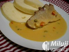 Bratislavská vepřová plec Main Meals, Cheeseburger Chowder, Thai Red Curry, Food And Drink, Soup, Cooking Recipes, Menu, Baking, Ethnic Recipes