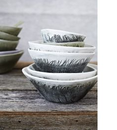 lovedesignlife: Would love to get these pretty handmade ceramics by Karen Morton for Husk. (Photography by Armelle Habib, styling by Julia Green) (via The Design Files) Pottery Bowls, Ceramic Pottery, Pottery Art, Pottery Painting, Pottery Ideas, Ceramic Clay, Ceramic Bowls, Clay Bowl, Ceramic Techniques