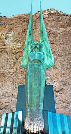One of the two bronze angels at Hoover Dam - Lake Mead, Nevada/Arizona