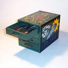 Spark-o-Matic file box painted