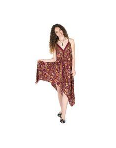Verano bandeau vestido flores soportes cordel playa vestido pañuelo vestido pañuelo aztecas