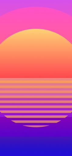 1125x2436 Sun, retro art, geometric wallpaper