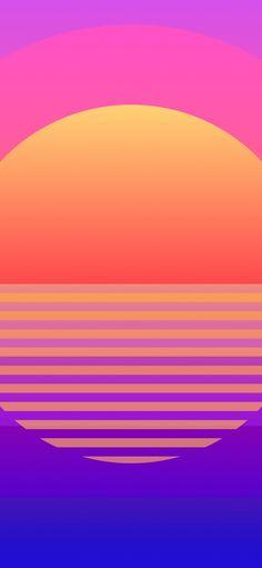 1125x2436 Sun, retro art, geometric wallpaper Geometric Wallpaper, Colorful Wallpaper, Fractal Art, Fractals, Amoled Wallpapers, Retro Art, Happy Colors, Vaporwave, Hd Images
