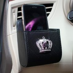 Black Car Dashboard Anti-slippery Organizer Holder with Bling Swan FEATURES See other swan themed car accessories. Non-slip design. Trash Can For Car, Car Trash, Car Interior Accessories, Cute Car Accessories, Future Car, Girly Car, Car Buying Tips, Car Gadgets, Car Hacks