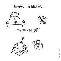 Theory and practice. Would a Studio Limón drawing workshop be a good idea. Word of day 9 Doodle Sketch, Doodle Drawings, Easy Drawings, Visual Thinking, Design Thinking, Visual Note Taking, Icon Png, Visual Metaphor, Visual Dictionary