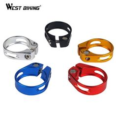 Newest MTB Road Bike Aluminum Seat Post Clamp 34.9 MM Seat Tube Clamp Lever Bicycle Parts Pierced Seat Tube Clip Seat Post Clamp