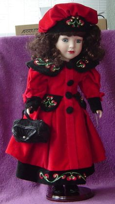 Vintage Victorian Collection Porcelain Doll by Artist Melissa Jane