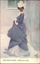 Tuck West Indies Martinique Lady c1910 Postcard French West Indies, Caribbean Art, Black Artists, Vintage Postcards, Worlds Largest, Art Photography, Old Things, Island, Lady