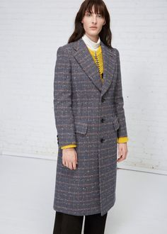 Junya Watanabe Patterned Coat (Navy Check)