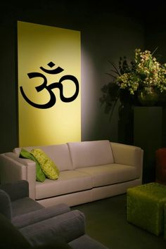 Items similar to Om wall decal, Vinyl Decal Wall Art Sticker, Om Symbol, Namaste Decal, Spiritual Sticker on Etsy Massage Place, Massage Room, Massage Art, Neck Massage, Facial Massage, Foot Massage, Massage Chair, Feng Shui, Wall Murals